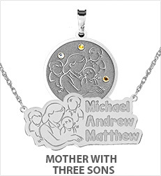 Mother with Three Sons Pendants