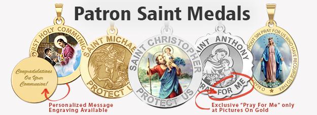 7dbf63e66b3 Religious Medals - Patron Saint Medals - Catholic Medals
