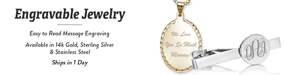 Engraved pendants engravable charms personalized pendants charms engravable aloadofball Image collections